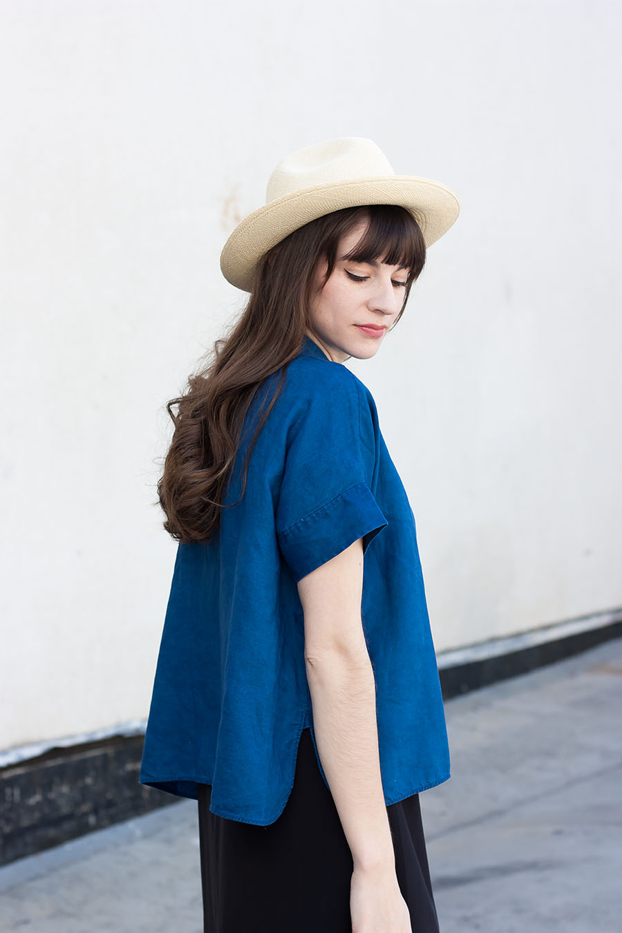 Everlane Shirt, Panama Hat, Summer Style for Women