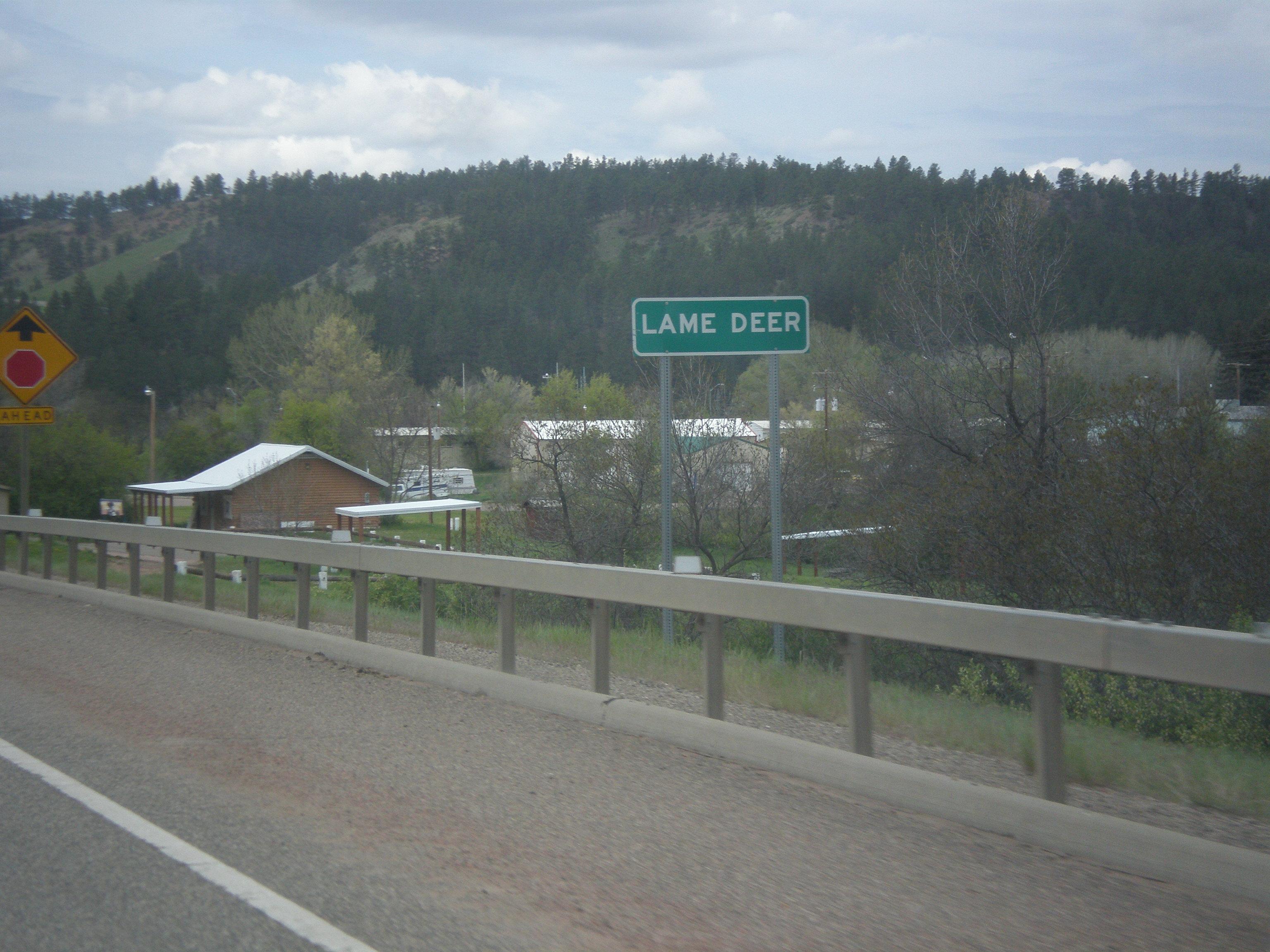 Elevation of Lame Deer MT USA  MAPLOGS