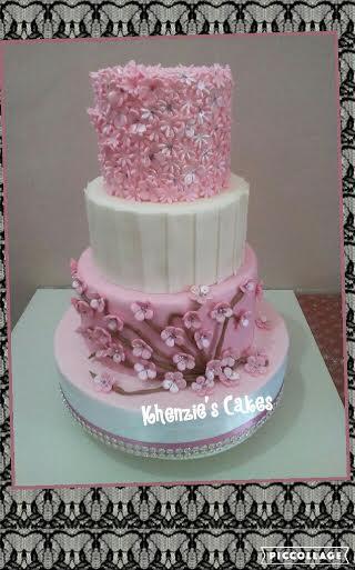 Lovely Pink Cake by Karen C. Alanes of Khenzie's Cakes
