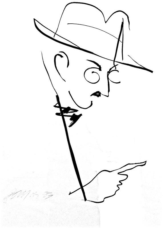 Fernando Pessoa' Portrait (1983) - Julio Pomar (1926)