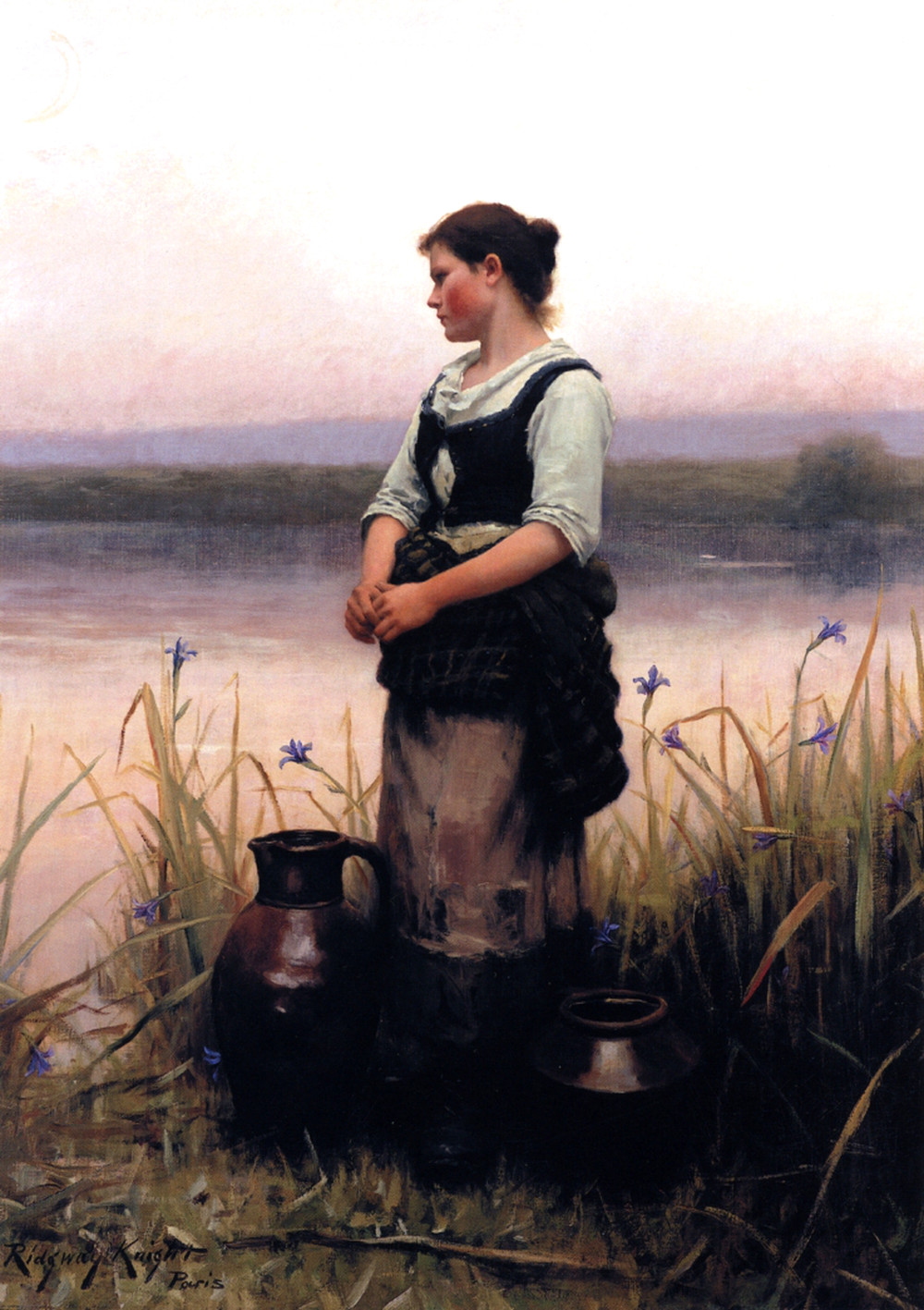 Far Away Thoughts by Daniel Ridgway Knight