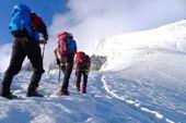 Aufstieg mit Bergführer zum Ortler, 3905 m. Foto: Günther Härter.