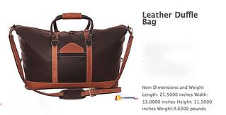ecuador leather duffel
