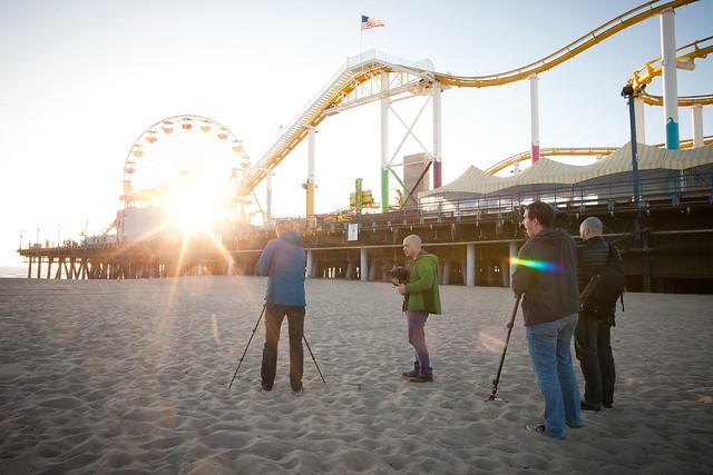 Manfrotto Be Free Tripod ad shoot BTS - Santa Monica