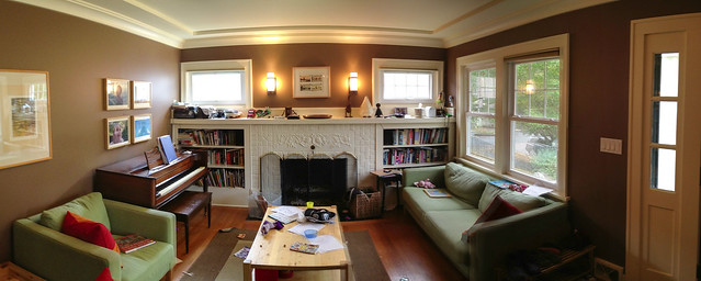 Our Messy Living Room Playing With Stitched Panoramas On