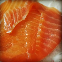 orange, salmon, sashimi, fish, lox, food, cuisine, smoked salmon,