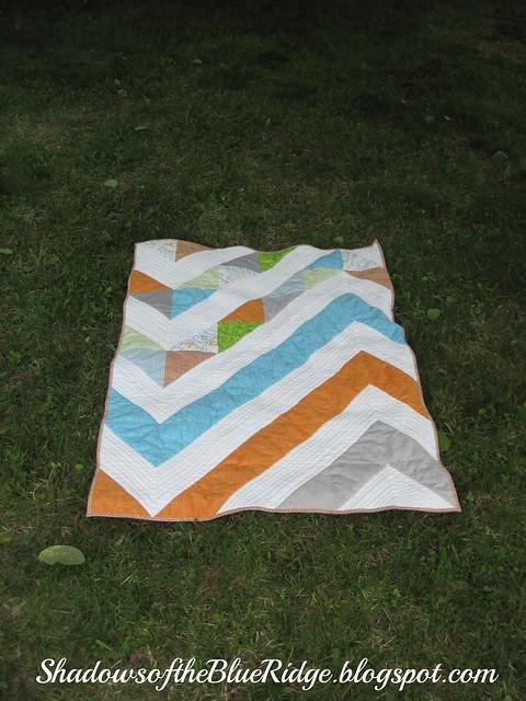 Modern Chevron Baby Quilt