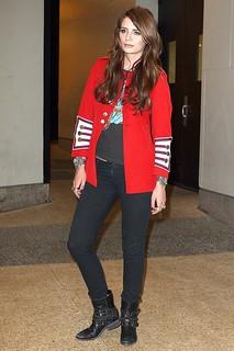 Mischa Barton Studded Biker Boots Celebrity Style Women's Fashion