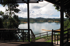 View from Batang Ai longhouse hotel