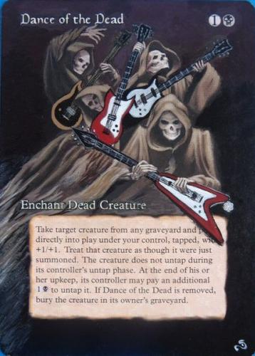 Dance of the Dead Magic mtg Card Altered Art by Sandreline alteration