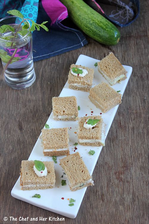 cucumber sour cream sandwich