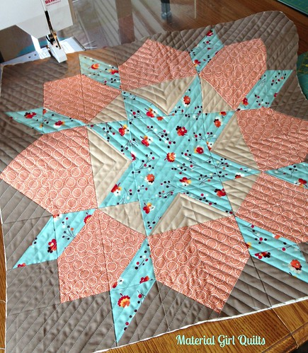 Swoon cushion top quilting