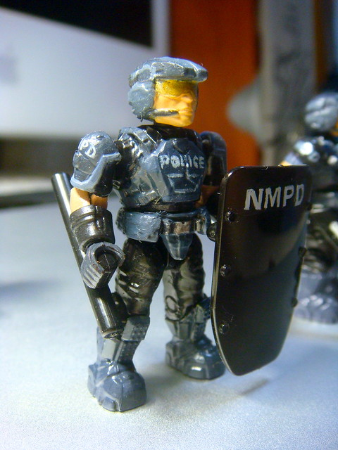 NMPD Police with riot shield! 9241231468_c60f4c1bbd_z