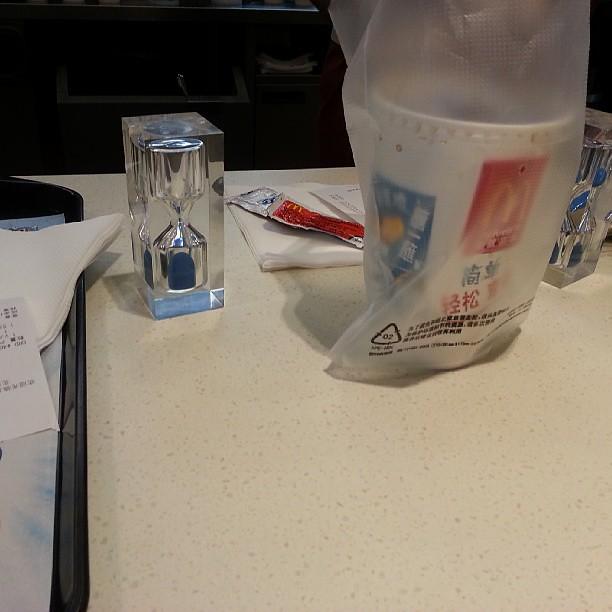 等餐超過六十秒送冰淇淋@@