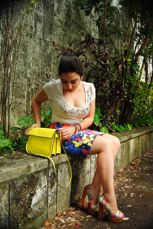 Zara box messenger bag