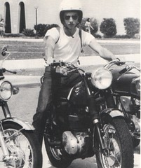 Mesa Community College 1972 Student on Motorcycle
