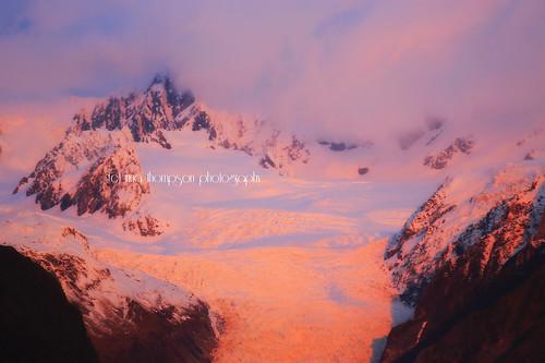 light sunset newzealand snow nature rural landscape glacier nz foxglacier southisland westcoast southernalps westland southwestland rinathompson