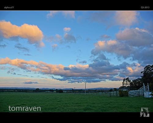 sunset newzealand sky sun mountains clouds sony farmland vista a77 wairarapa tomraven aravenimage q32013