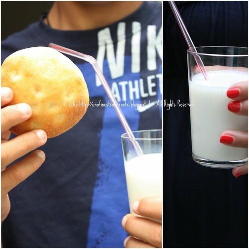 Focaccine dolci al latte con lievito madre