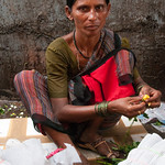 Rose Vendor at Dadar Flower Market - Mumbai, India