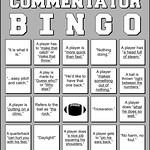 Football Commentator Bingo Card