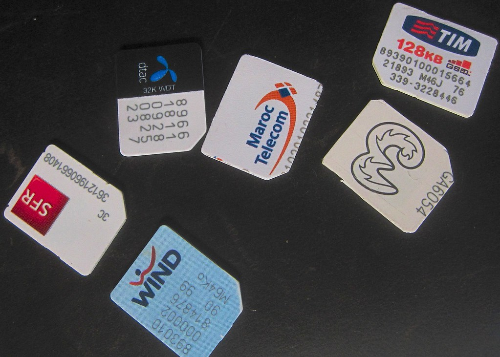 Tasty internet bytes: SIM cards from recent travels