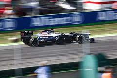 Pastor Maldonado (Williams) Locking Wheel Under Braking