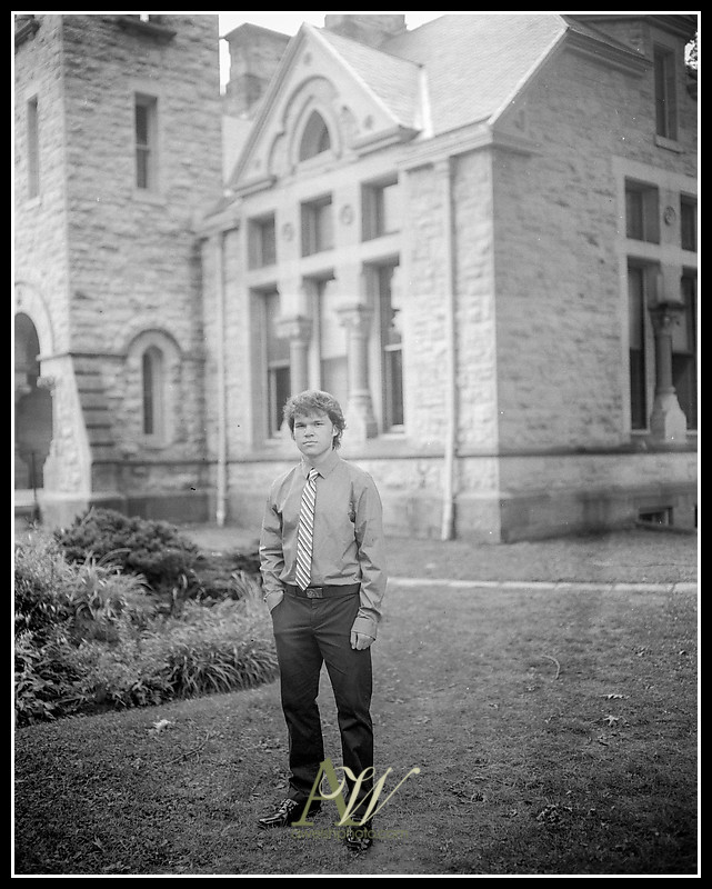 Unique track outdoor senior portrait film photographer photography Irondequoit Rochester NY Andrew Welsh