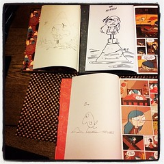 Luke Pearson did some nice sketches & signed each one.