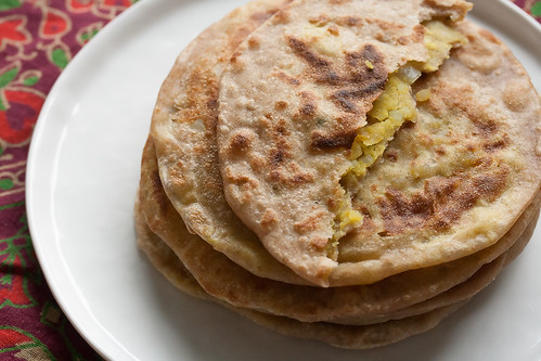 Aloo Parathas (Indian Potato Flatbreads)