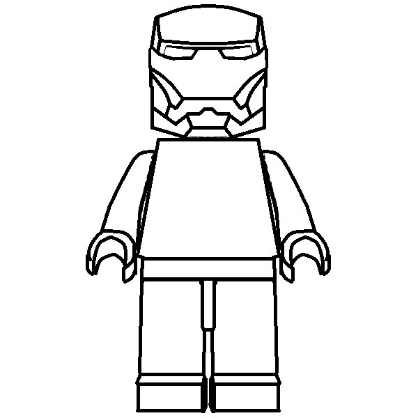 Iron Man Coloring Book Games : How to draw lego iron man