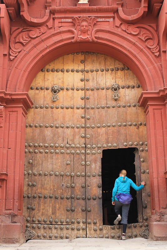 Entering Huancavelica's Cathedral