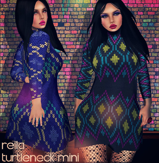 Reila - turtleneck mini ad