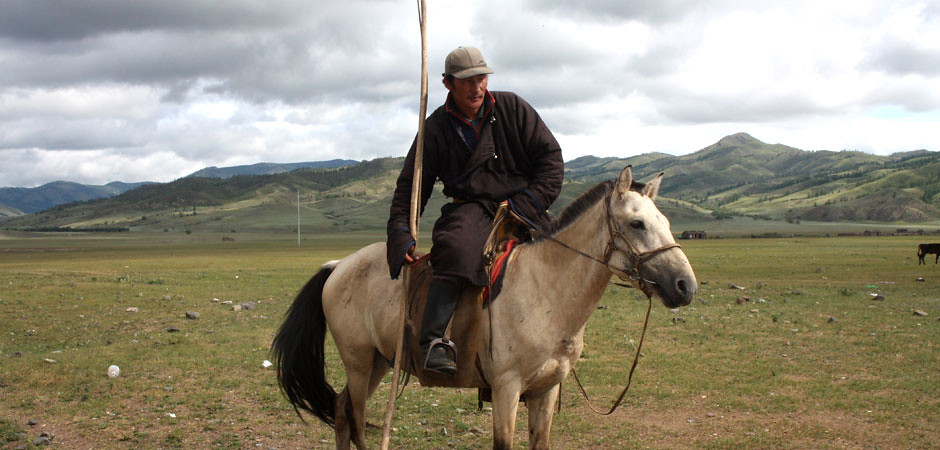 Horse trip around khuvsgul lake