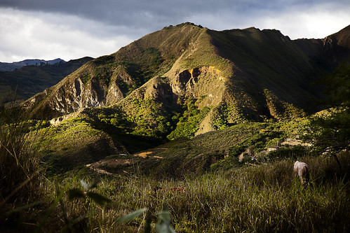 Vilcabamba valley in the final rays of evening sun