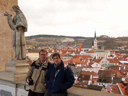 Con Paco Nadal en Cesky Krumlov (Bohemia del Sur, República Checa)