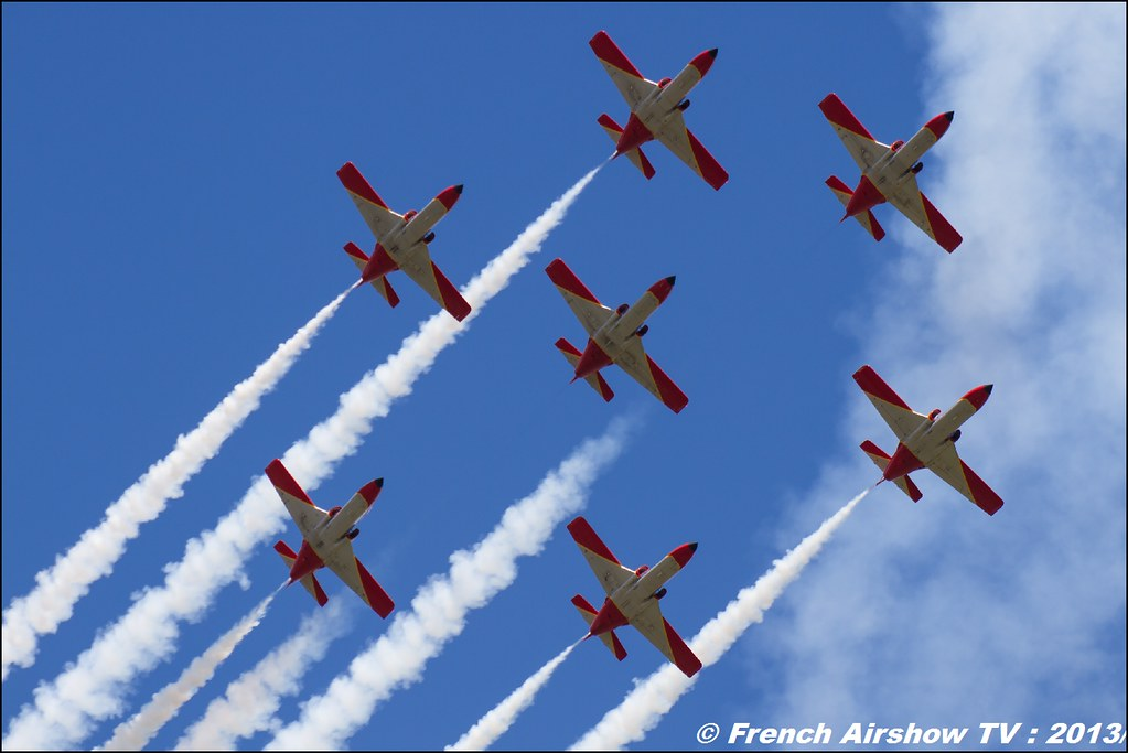 Aguila (Patrouille Espagnole), 60 ans Patrouille de France, Meeting Aerien 2013