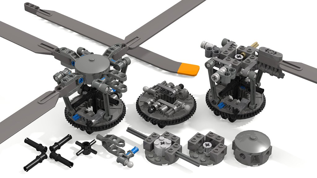 Realistic Helicopter Rotor Head Swashplate (Cyclic ...