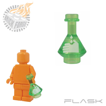 Flask - Trans Bright Green (Acid)
