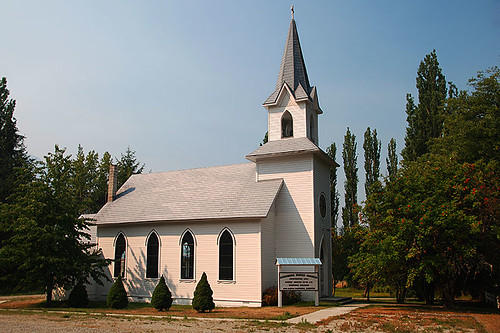 Church in Hagensborg, Bella Coola Valley, Coast of Central British Columbia