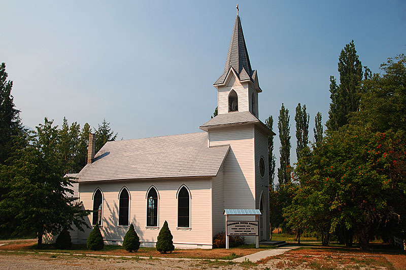 Church in Hagensborg, Bella Coola Valley, Coast of Central British Columbia
