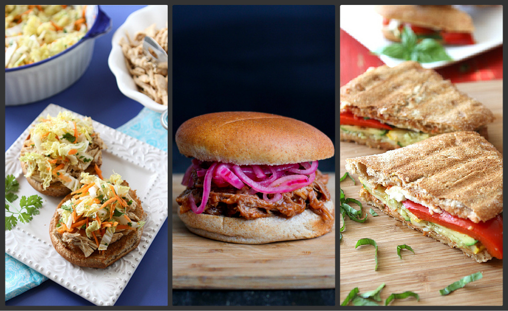 slow cooker hoisin shredded chicken sandwich with asian slaw slow ...