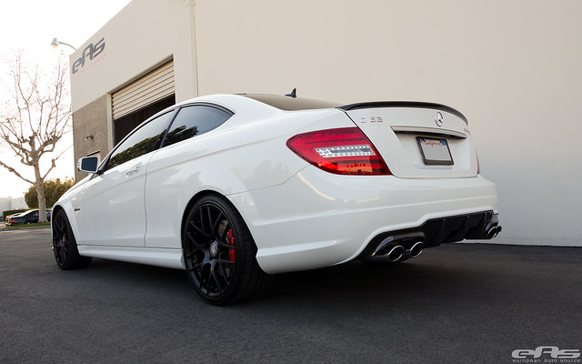Some Carbon Fiber For A White C63 Amg Bmw Performance Parts Services