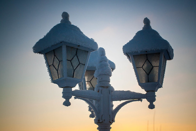 Three Frosty Lanterns