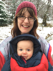 Helen and Alex in the snow