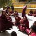 debating Buddhist scriptures,Ganden Monastery by woOoly