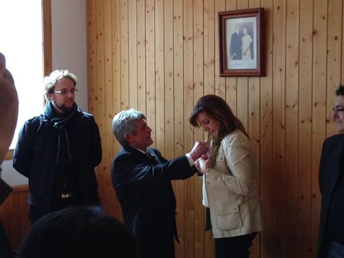 Visita Ayuntamiento Albanchez, Imposición Escudo de Oro del Municipio.