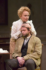 Kate Burton as Arkadina and Morgan Ritchie as Konstantin in the Huntington Theatre Company production Anton Chekhov's passionate classic THE SEAGULL directed by Maria Aitken, playing March 7 - April 6, 2014 at the Avenue of the Arts / BU Theatre. Photo: T. Charles Erickson