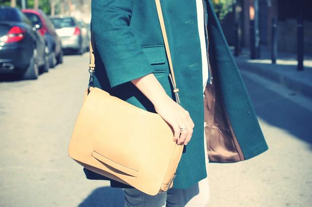Look: Grey + Green coat