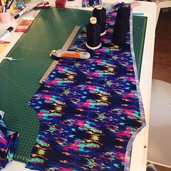 Snip, snip: first pair of custom-fit leggings on the cutting table!